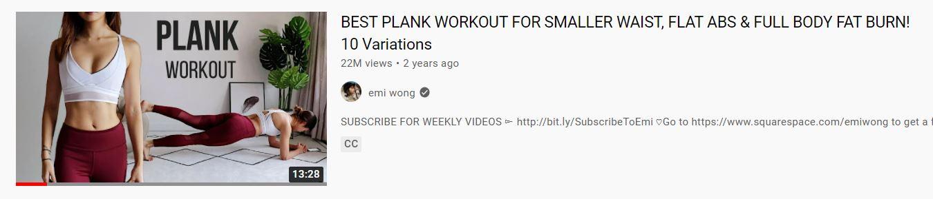 Tap Plank Giam Mo Bung Emi Wong
